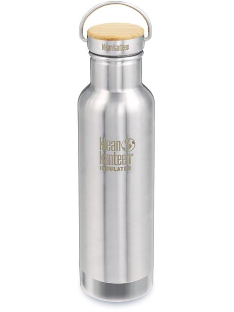 Klean Kanteen Reflect Vacuum Insulated - Gourde - Bamboo Cap 592ml argent